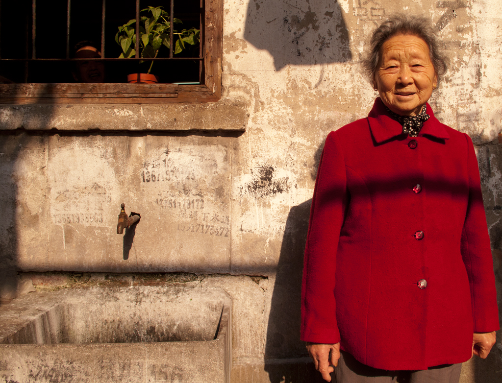 how to say old lady in chinese